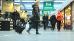 In a hurry Passengers   traveling through  Station 1920x1080 full hd Stock Footage