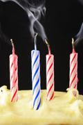Blown out birthday candles Stock Photos