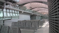 Waiting Area Departure Suvarnabhumi International Airport Interior Bangkok 8002 Stock Footage