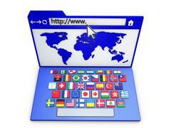 internet browser - stock illustration