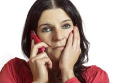 woman woman talking on the mobile phone. - stock photo