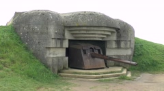 The Longues-sur-Mer German World War Two gun battery, Normandy, France. Stock Footage