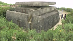 Ranging and observation post, Longues-sur-Mer WWII battery, Normandy, France. Stock Footage