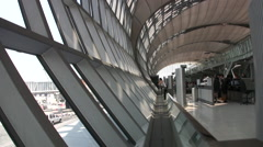 Suvarnabhumi International Airport Interior Terminal Bangkok Thailand 8003 Stock Footage