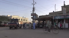 Traffic and people in Karachi, Pakistan Stock Footage