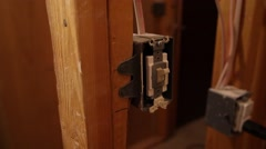Lightswitches - Construction Home - Pedestal Up Stock Footage