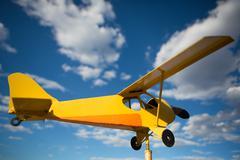 Yellow old airplane Kuvituskuvat