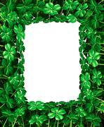 Clover leaf frame border Stock Illustration