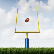 American football goal Stock Illustration