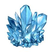 Crystal gemstone Stock Illustration
