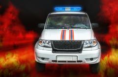 Car fire protection Stock Photos