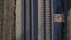Aerial, vertical - Railway line Stock Footage