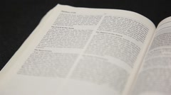 Bible Pages - Great Commission - Roll Focus Stock Footage