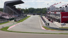 Racing lap of Formula Renault 2.0  in Moscow Raceway Stock Footage