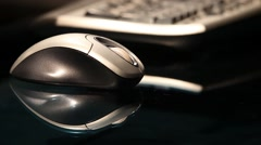 Mouse and Keyboard - Roll Focus Stock Footage