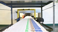 Newspaper Press - Fast moving print in factory - stock footage