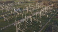 Aerial - Electrical energy facility - stock footage