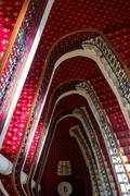 Grand classic staircase in Hotel Stock Photos