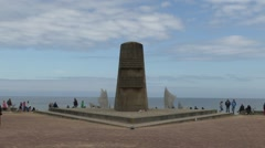 The Liberation Memorial on Omaha beach, St. Laurent-sur-Mer, Normandy, France. Stock Footage