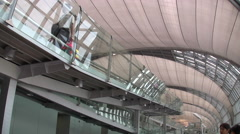 Suvarnabhumi International Airport Interior Terminal Bangkok Thailand 8007 Stock Footage