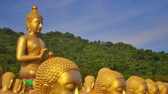 Buddha lot That is beautiful in Thailand Stock Footage