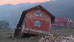 Krupanj - Serbia,flooding and landslides Stock Footage