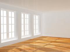 Stock Photo of Empty room with parquet floor