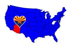 State of arizona Stock Illustration