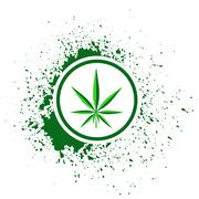 cannabis icon - stock illustration