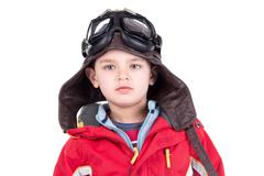 Young boy aviator Stock Photos