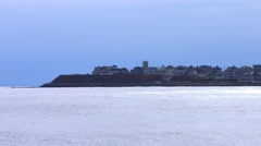 Coastal View at Beach During The Winter Stock Footage