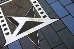 Bruce Lee star at the Avenue of Stars - stock photo