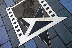 Jackie Chan star at the Avenue of Stars Stock Photos
