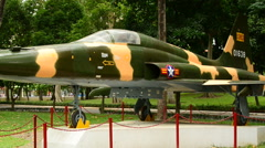 Zoom Out Russian MIG Aircraft  - Independence Palace - Ho Chi Minh City Vietnam Stock Footage