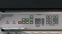 Stock Video Footage of On management module flashing warning LED
