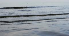 Sand beach in Baltic sea , Riga Latvia Stock Footage