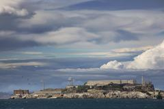 Alcatraz island in San Francisco - stock photo