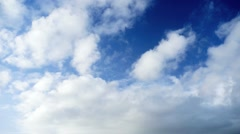Clouds with blue sky Stock Footage