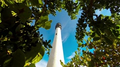 Time lapse video of the Cape Florida Lighthouse through the trees Clip1 Stock Footage
