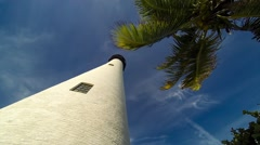 Time lapse video of the Cape Florida Lighthouse Clip2 Stock Footage