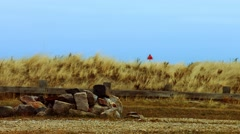 Lonely Northeast Beach During The Winter Stock Footage