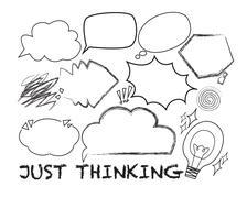 thought symbols - stock illustration