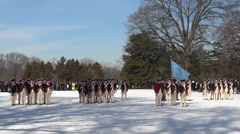 Old Guard on parade Stock Footage