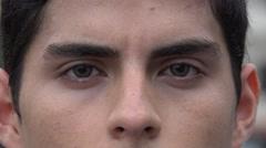 Stock Video Footage of Hispanic Man, Latino Male, Adult, Eyes, Face