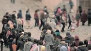Immigrants walking - stock footage