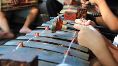 Indonesian xylophone Stock Footage
