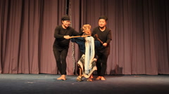 Laos Puppet Show In International Puppets Festival 2014 Stock Footage