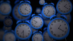 Clocks ticking in high speed - stock footage