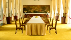 Zoom Out  - State Banquet Chamber - Independence Palace - Ho Chi Minh City Stock Footage