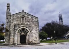 Romanesque church in Oporto - stock photo